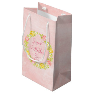 Mother's Day - Pretty Watercolor Roses 2 Small Gift Bag