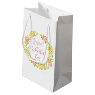 Mother's Day - Pretty Watercolor Roses Small Gift Bag