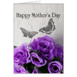 Mother's Day (Purple Rose & Butterfly) Card