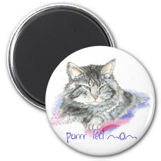 Mother's Day - Purrr-fect Mum - Cat 6 Cm Round Magnet