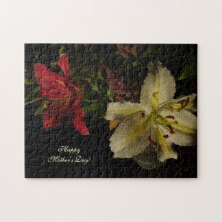 Mother's Day Puzzle with Lilies