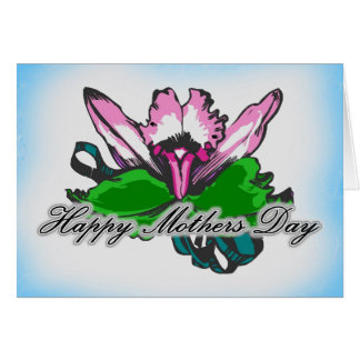 Mothers Day Red Orchids Greeting Card