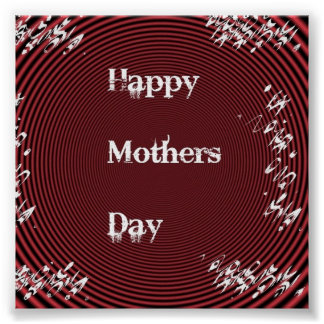 Mothers Day Red Poster