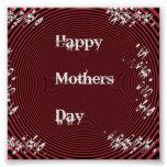Mothers Day Red Posters