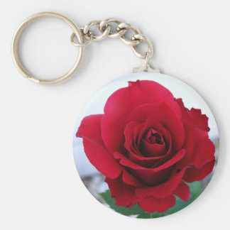 Mother's Day Red Rose Basic Round Button Key Ring