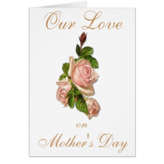 MOTHERS DAY ROSE GREETING CARD