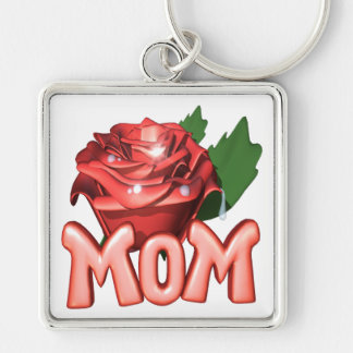 Mothers Day Rose Key Chains