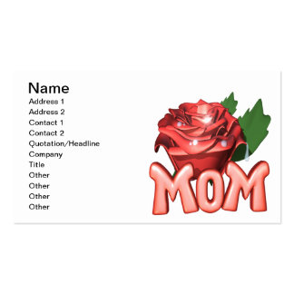 Mothers Day Rose Pack Of Standard Business Cards