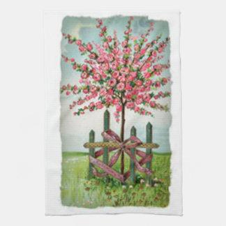 Mothers Day Rose Tree Tea Towel