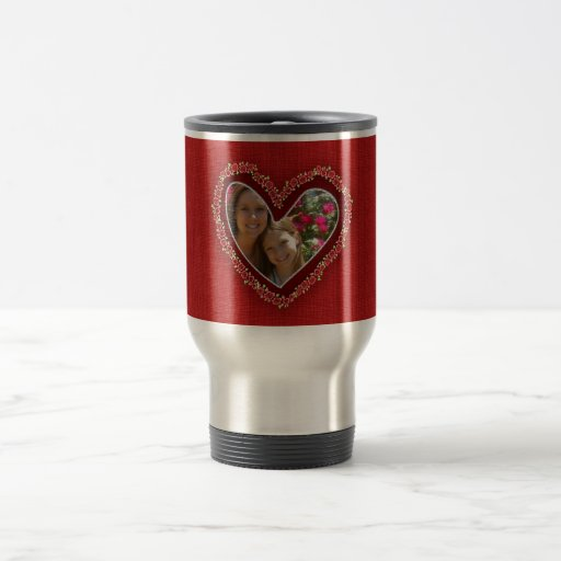 Mother's day roses heart frame photo mugs