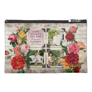 Mother's Day Roses Instagram Vintage Photo Collage Travel Accessory Bag