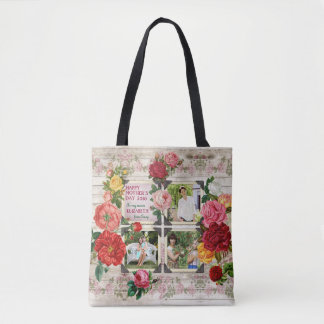 Mother's Day Roses Instagram Vintage Photo Frame Tote Bag