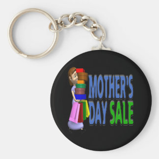 Mothers Day Sale Basic Round Button Key Ring