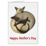 Mothers Day Siamese Cats Card
