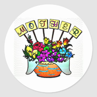Mother's Day Sign Classic Round Sticker