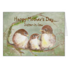 Mother's Day Sister-in-law  Sparrow Bird Family Card