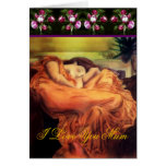 Mother's Day Sleeping Woman card