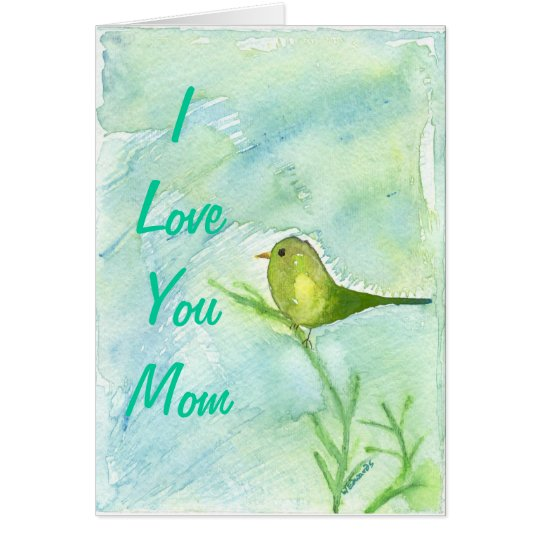 Mothers Day Song Bird Greeting Card