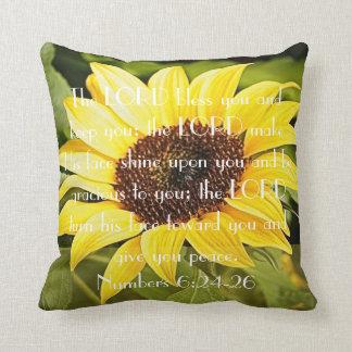Mother's Day sunflower bible verse pillow Throw Cushions