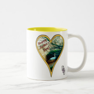 Mother's Day Swan Two-Tone Mug