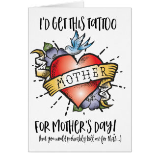 Mother's Day Tattoo Card