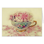 Mothers Day Teacup of Flowers Greeting Card