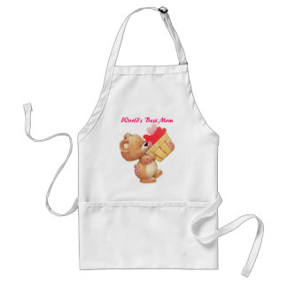 Mother's Day Teddy And A Basket Of Hearts Standard Apron