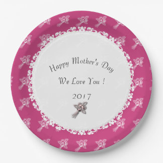 Mother's-Day--Template_Mauve-White-Roses Paper Plate