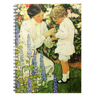 Mother's Day Vintage Art Gift Notebook