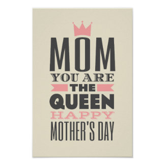 Mother's Day Vintage Style Text Design Poster