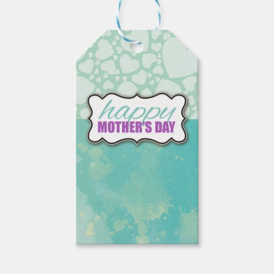 Mother's Day Watercolor Gift Tag