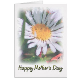 Mother's Day - Watercolour Daisy Greeting Card