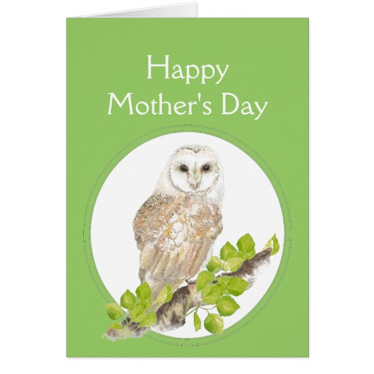Mother's Day Who Loves You, Cute Barn Owl Card