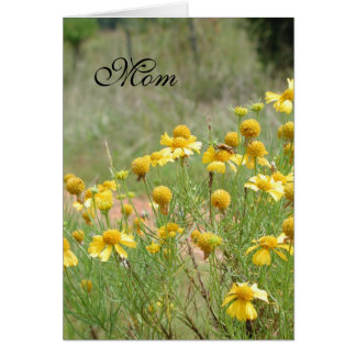 Mothers Day Wildflower Card by Janz