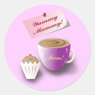 "Mother's Day ""Yummy Mummy"" Classic Round Sticker"