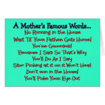 Mother's Famous Words--Mother's Day Gifts