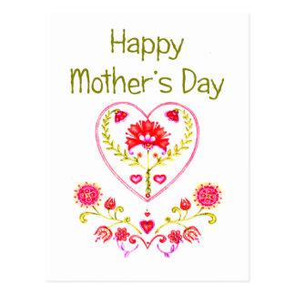 Mother's Flower Heart Postcard