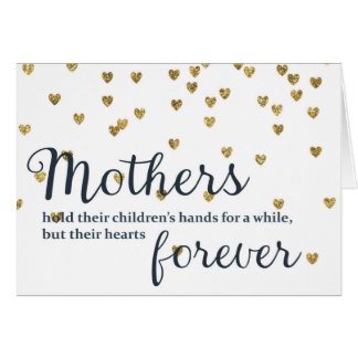 Mothers hold their Children's Hands Card