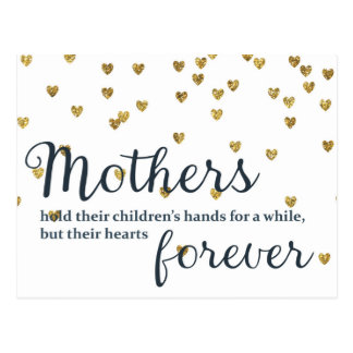 Mothers hold their Children's Hands Postcard