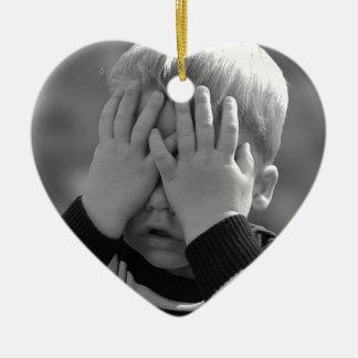 Mother's Little Boy. Ceramic Heart Decoration