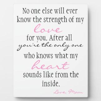 Mother's Love Display Plaque