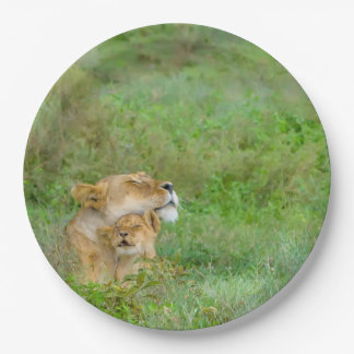 Mother's Love Lioness & Cub Paper Plates