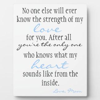Mother's Love Plaque