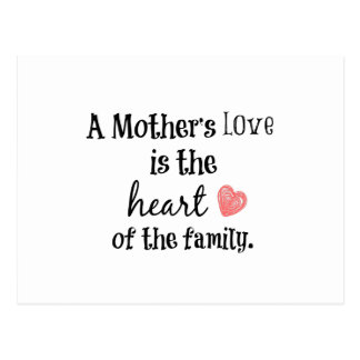 Mother's Love Quote Postcard