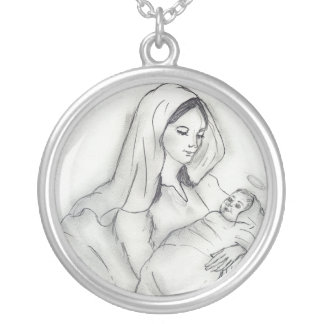 Mother's Love Silver Plated Necklace