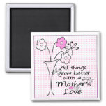 Mothers Love Square Magnet