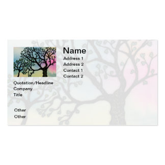Mother's Love - Trees on Vellum and Watercolor Business Cards