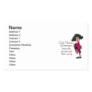 Mothers of Teenagers Double-Sided Standard Business Cards (Pack Of 100)