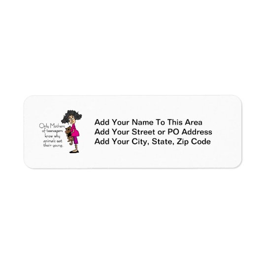 Mothers of Teenagers Return Address Label