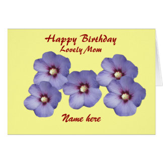 Mother's, Pretty Flowers, Birthday, add name front Greeting Card